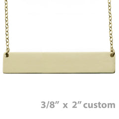 GOLD NAMEPLATE NECKLACE LARGE