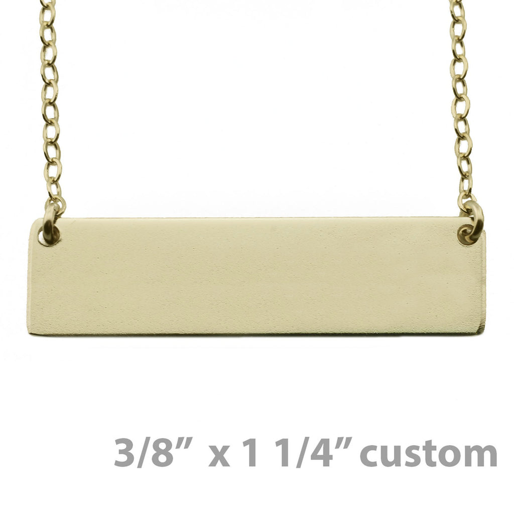 "Custom Gold Nameplate Necklace 3/8"" x 1 1/4"""