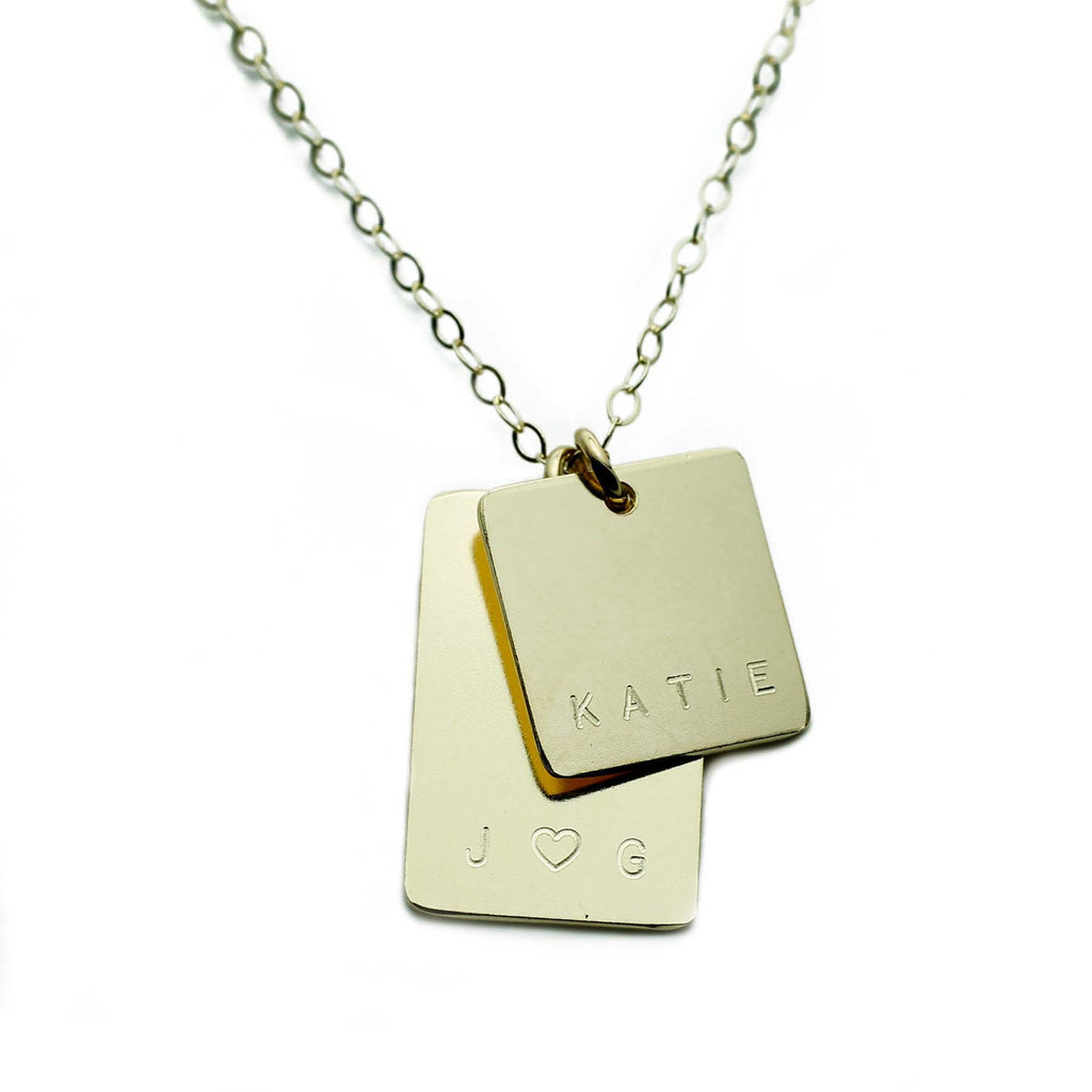 GOLD NAMEPLATE RECTANGLE TAGS