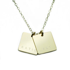 GOLD SQUARE NAMEPLATE NECKLACE