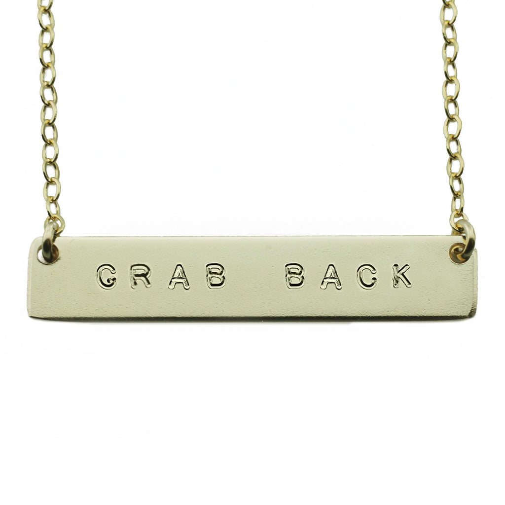 Grab Back Nameplate Necklace