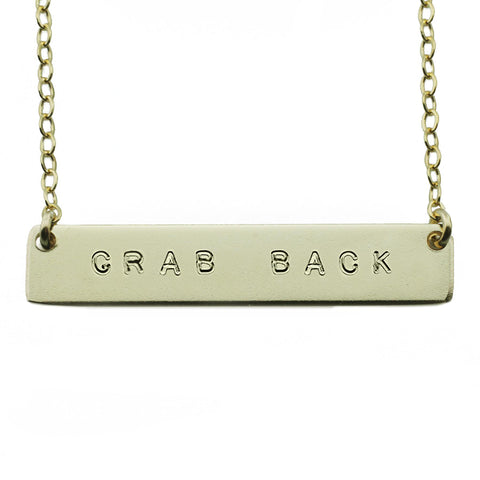 The Name Plate Necklace Grab Back
