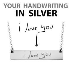 HANDWRITING NECKLACE SILVER