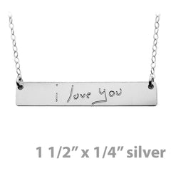 HANDWRITING NECKLACE STERLING SILVER