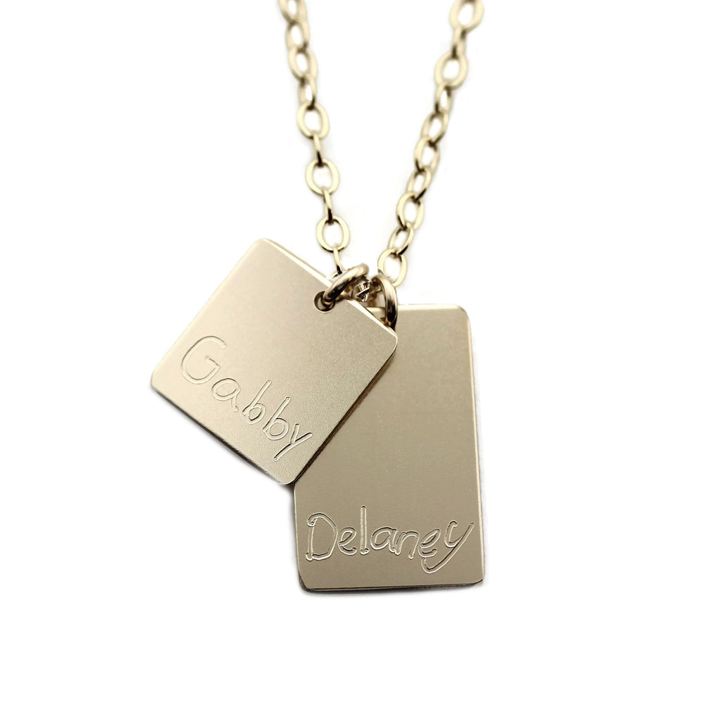 HANDWRITING SQUARE NECKLACE