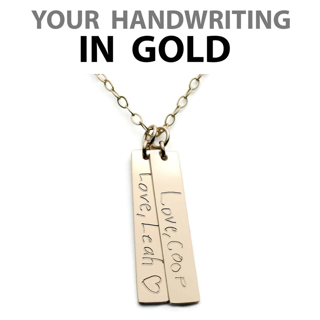 HANDWRITING VERTICAL NECKLACE