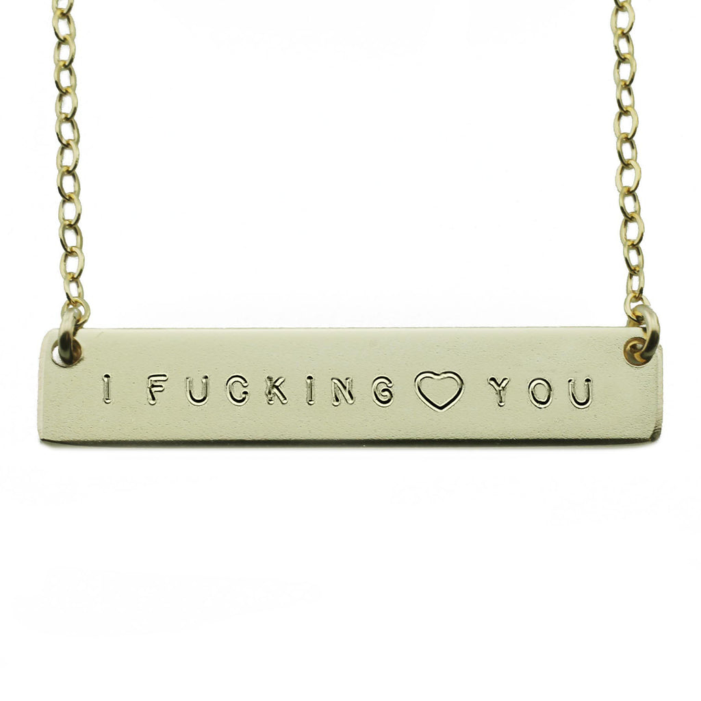 I FUCKING HEART YOU NAMEPLATE NECKLACE