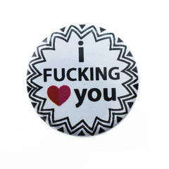 PIN GREETING CARD - I HEART CURSE WORDS