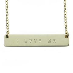 I LOVE ME NAMEPLATE NECKLACE