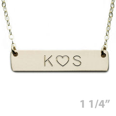 Custom Gold Name Plate Necklace Initial ♥ Necklace