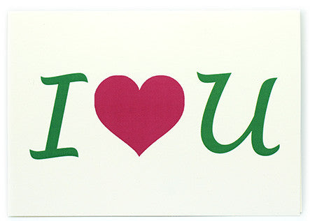 GREETING CARD - I ♥ YOU