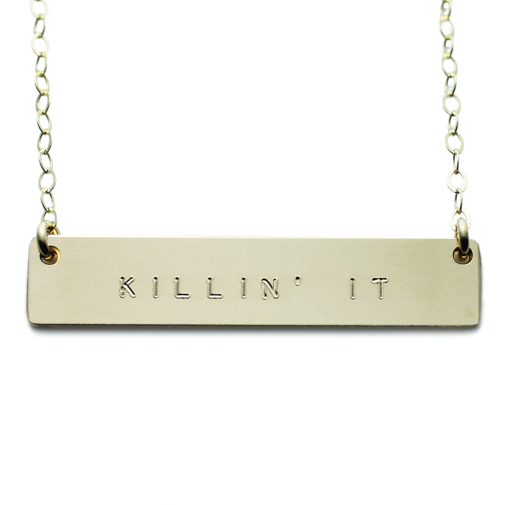 KILLIN IT NAMEPLATE NECKLACE