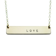 The Name Plate Necklace Love