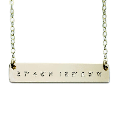 Custom Latitude And Longitude Necklace