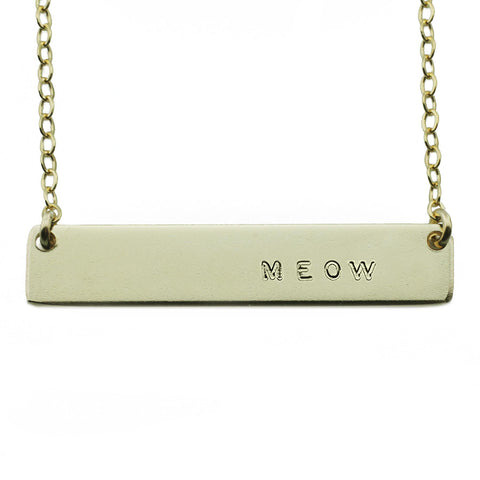 The Name Plate Necklace Meow