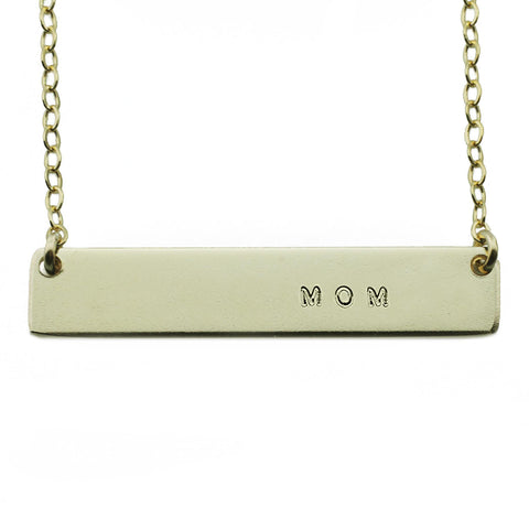 The Name Plate Necklace  Mom