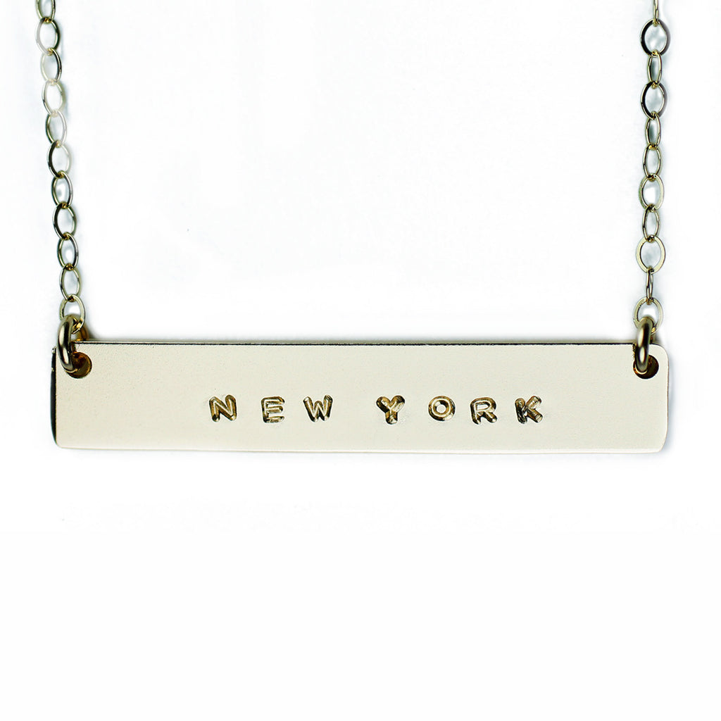 The Name Plate Necklace New York