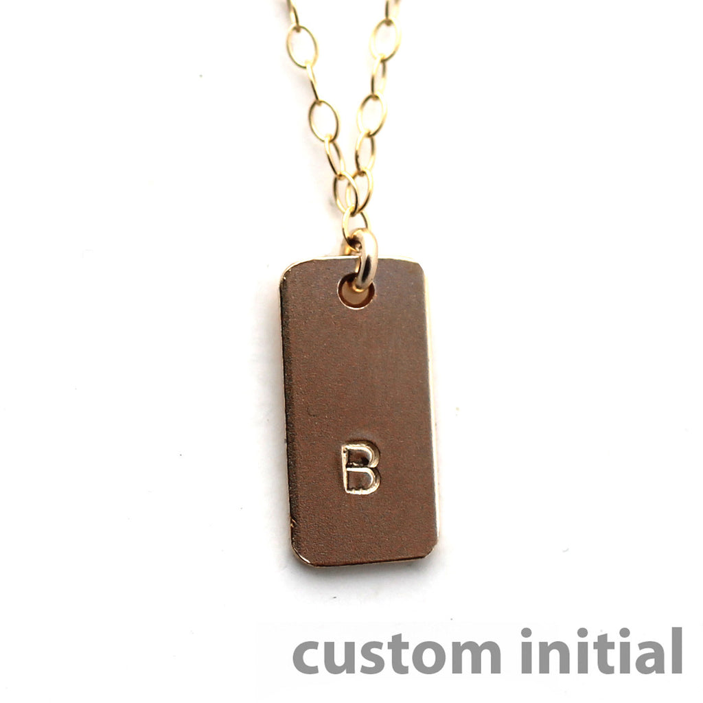 The Name Bar Necklace Custom Initial