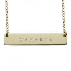 The Name Plate Necklace Namaste
