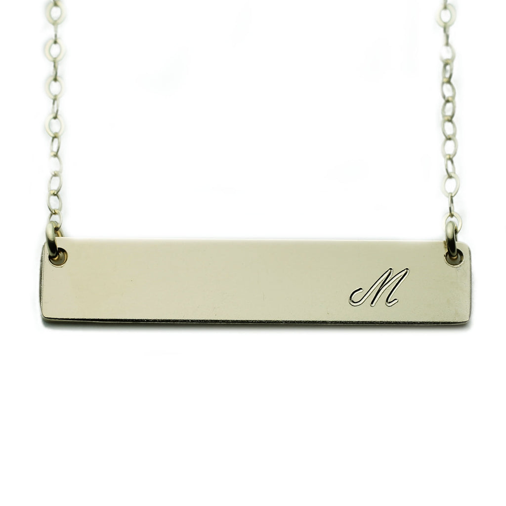 Gold NamePlate Necklace Custom Initial