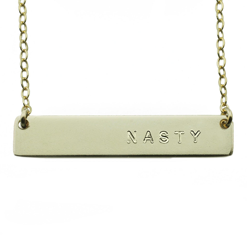 Nasty Nameplate Necklace