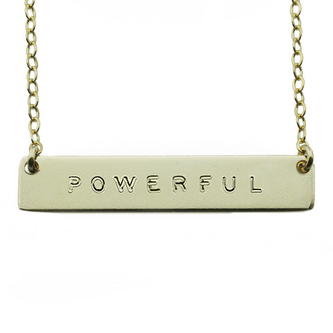 The Name Plate Necklace Powerful