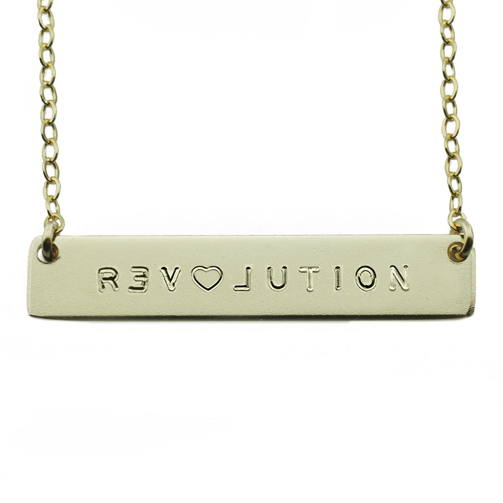 Revolution Nameplate Necklace
