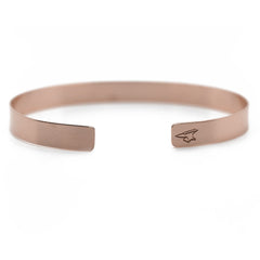 Rose Gold Nameplate Cuff Bracelet Custom