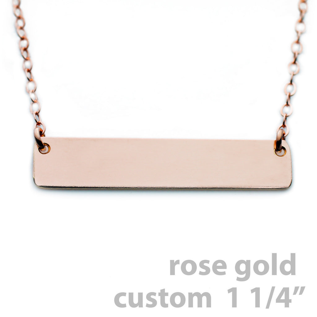 Gold Name Plate Necklace Custom Rose Gold 125 The Urban Smith