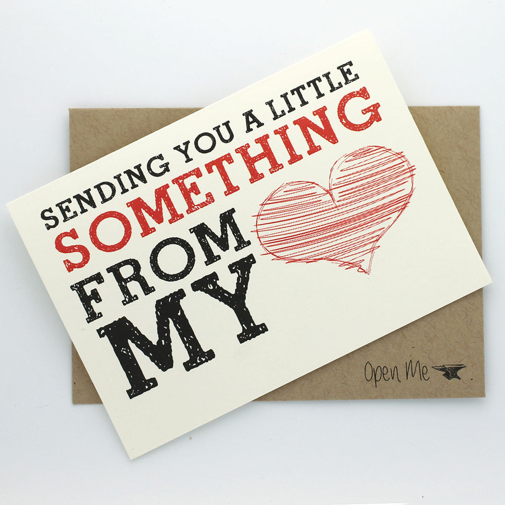GREETING CARD - SENDING YOU A LITTLE SOMETHING