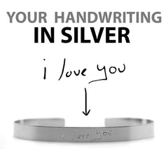 SILVER HANDWRITING BRACELET