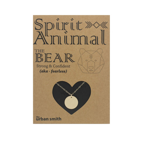 Spirit Animal Necklace - The Bear