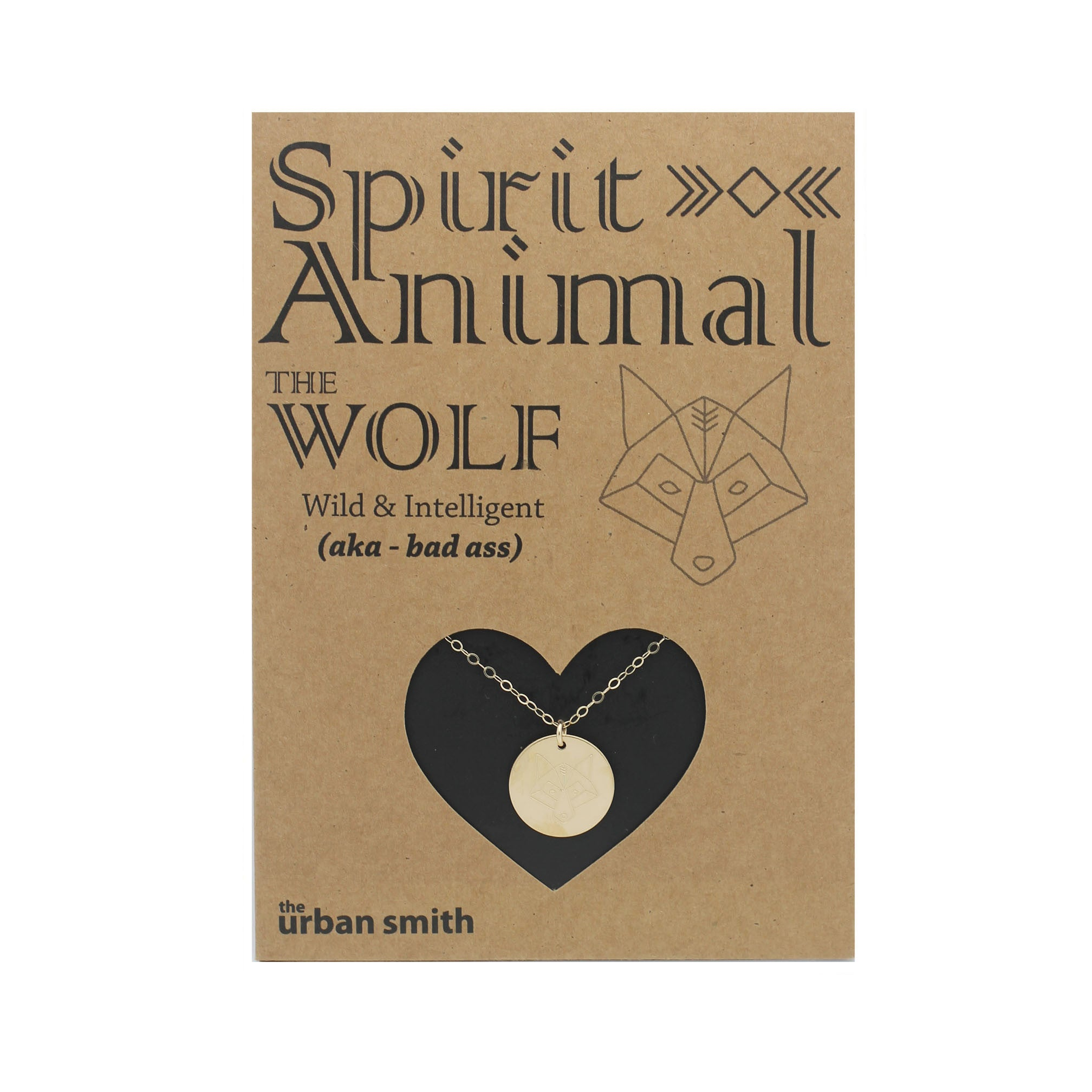 Spirit Animal Necklace - The Wolf – The Urban Smith