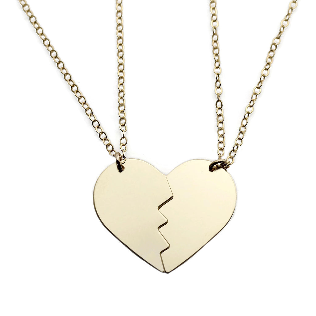 SPLIT HEART NECKLACE