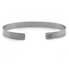 Custom Silver Handwriting Cuff Bracelet