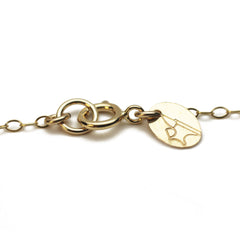 The Emoji Necklace Gold Disc - 5/8""