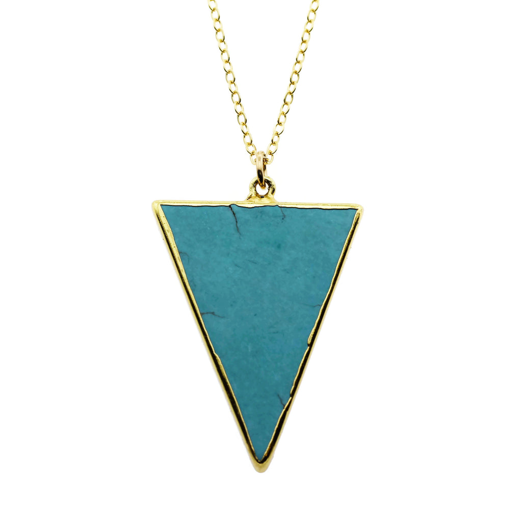 STONE TRIANGLE NECKLACE TURQUOISE