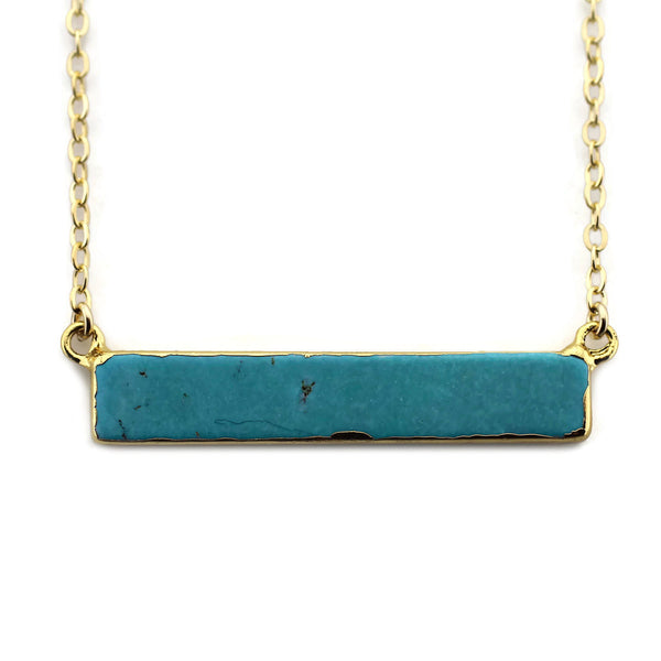 Turquoise Bar Necklace The Urban Smith