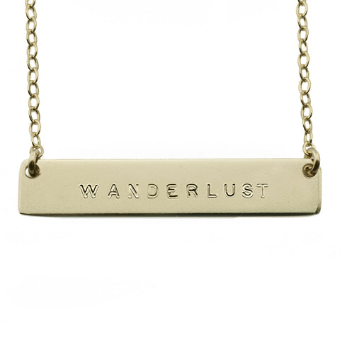 The Name Plate Necklace Wanderlust