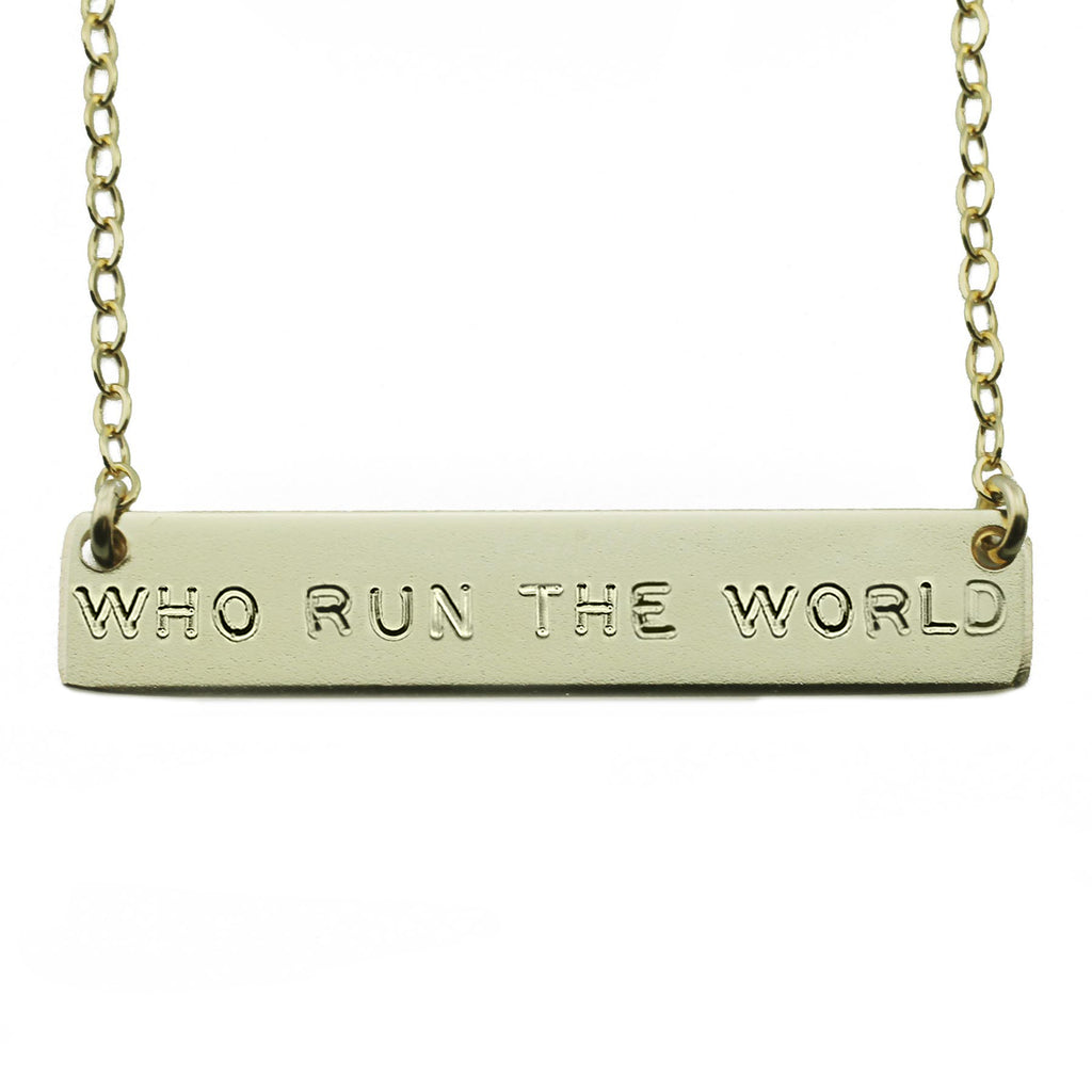 The Name Plate Necklace Who Run The World