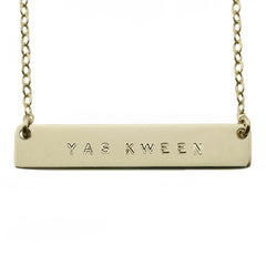 YAS KWEEN CUSTOM NAMEPLATE NECKLACE
