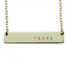 YESSS NAMEPLATE NECKLACE