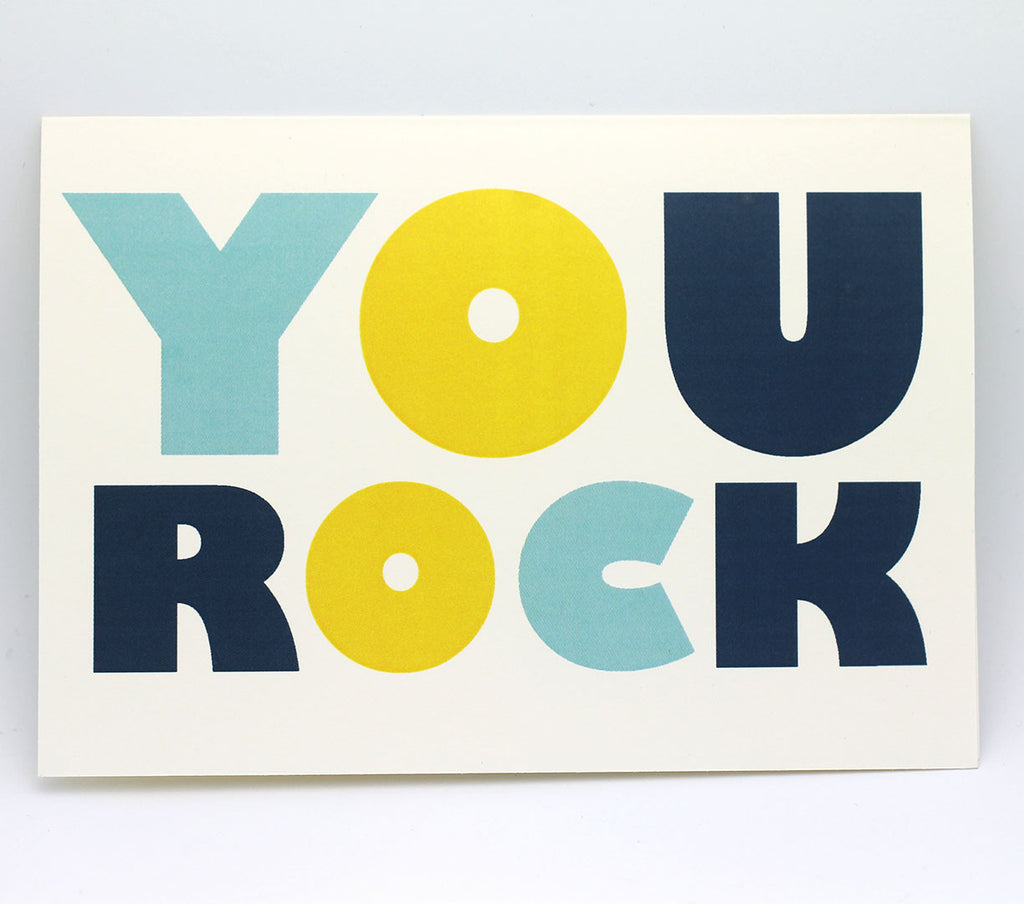 GREETING CARD - YOU ROCK
