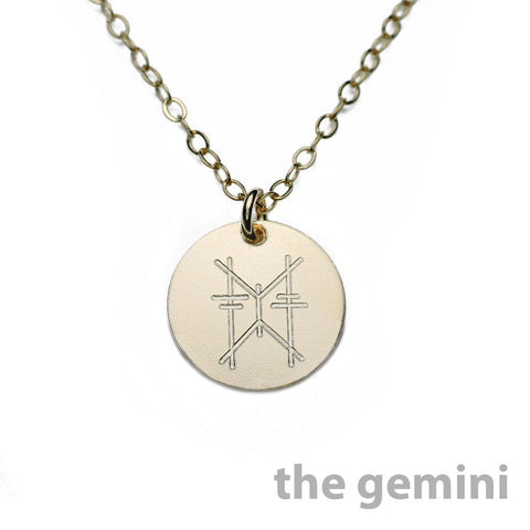 ZODIAC SIGN DISC NECKLACE