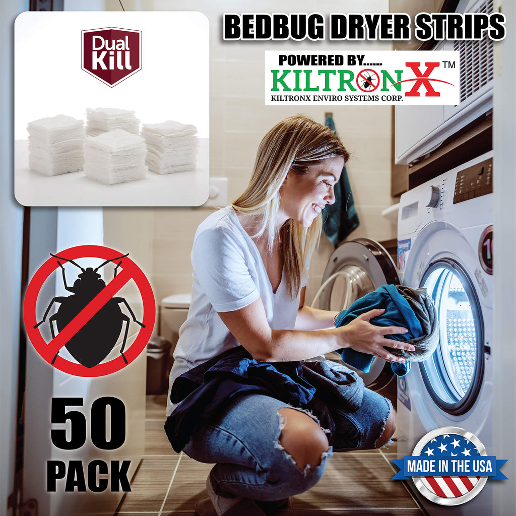 LIVE-FREE BEDBUGS DRYER STRIPS - 50 plus 10 Sheet Bonus = 60 LOAD SALE