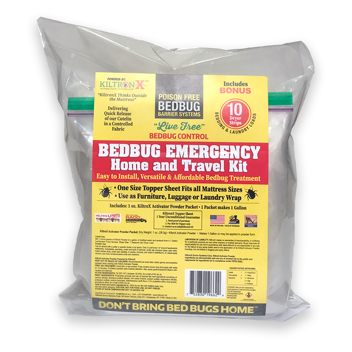 Live Free Bedbug Emergency Home & Travel 3 Piece Kit with Bonus Nonna's Sterilizer and Mosquito Sprays