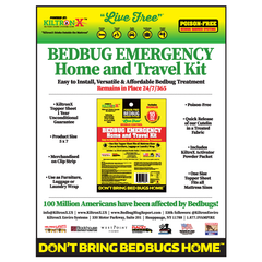 Live Free Bedbug Emergency Home & Travel 3 Piece Kit - Bonus Nonna's Sterilizer and Mosquitoes Sprays