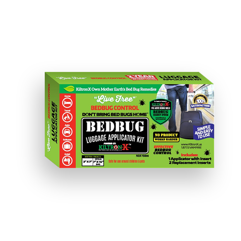 Live Free Bedbug Luggage, Suit Case, Back-Pack, Purse, Carry-On Applicator Kit