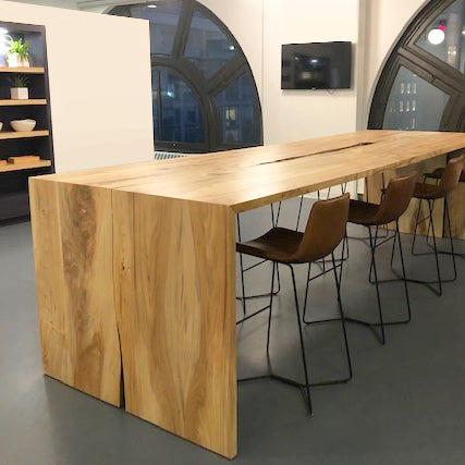 Live Edge Counter Height Conference Table