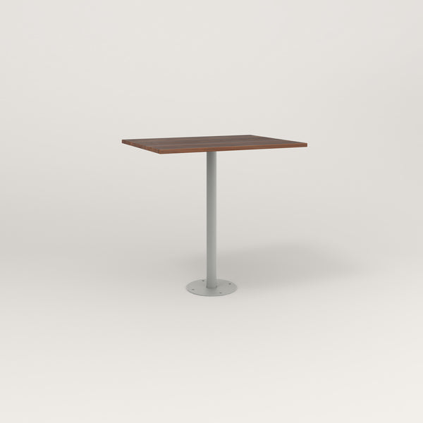 RAD Cafe Table, Rectangular Bolt Down Base in slatted wood and grey powder coat.
